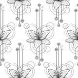 Floral geometric seamless pattern Royalty Free Stock Photo