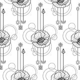 Floral geometric seamless pattern Royalty Free Stock Photography