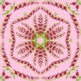 Floral geometric seamless pattern background for Wallpaper. Stock Photo