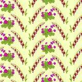 Floral geometric seamless pattern background for Wallpaper. Stock Images