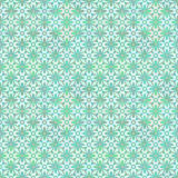 Floral Geometrical Pattern in Greenish Colors Royalty Free Stock Photo