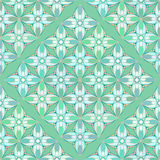 Floral Geometrical Pattern in Greenish Colors Royalty Free Stock Image