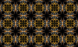 Floral geometry cyclical pattern Royalty Free Stock Image
