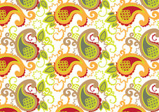 Floral and geometry wallpaper Royalty Free Stock Photography