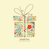 Floral gift Stock Photo