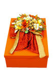 Floral gift box Royalty Free Stock Photography