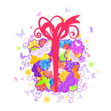 Floral gift box Royalty Free Stock Image