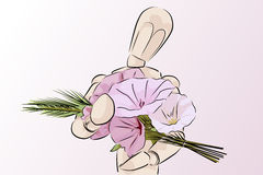 Floral gift - vector illustration Stock Photo