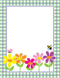 floral gingham ανασκόπησης Στοκ Εικόνες