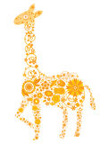Floral giraffe Stock Image