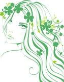 Floral girl vector illustration