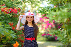 Floral girl Royalty Free Stock Image