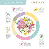 Floral girl. Infographic for your design vector illustration