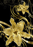Floral gold abstraction Stock Photo