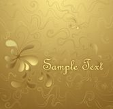 Floral gold background Stock Image