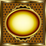 Floral Gold Frame Royalty Free Stock Photos