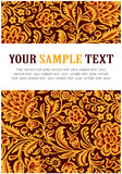 Floral gold pattern Royalty Free Stock Images