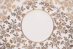Floral gold and white abstract Royalty Free Stock Photography