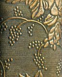 Floral golden antique wallpaper backround stock photography