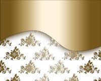 Floral golden design. Stock Photo