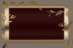 Floral golden frame Royalty Free Stock Images