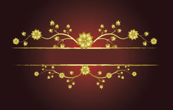 Floral golden frame. With place for text Royalty Free Illustration