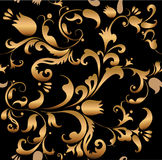 Floral golden pattern Royalty Free Stock Image