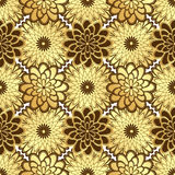 Floral golden seamless pattern Royalty Free Stock Photo