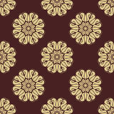 Floral Golden Seamless Vector Pattern Royalty Free Stock Images
