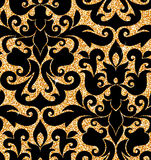 Floral golden wallpaper Stock Photography