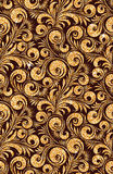 Floral golden wallpaper Stock Photo