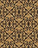 Floral golden wallpaper Stock Image