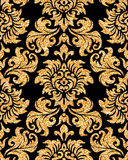 Floral golden wallpaper Stock Images