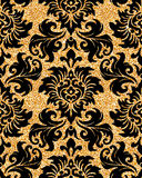 Floral golden wallpaper Stock Photos
