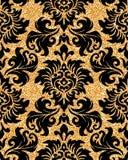 Floral golden wallpaper Stock Photos