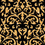 Floral golden wallpaper Royalty Free Stock Photo