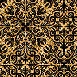 Floral golden wallpaper Royalty Free Stock Photography