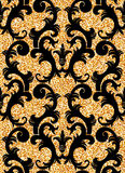Floral golden wallpaper Stock Image