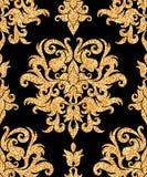 Floral golden wallpaper Stock Photo