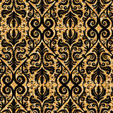 Floral golden wallpaper Royalty Free Stock Photos