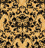 Floral golden wallpaper Royalty Free Stock Image