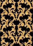 Floral golden wallpaper Stock Images