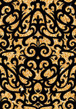 Floral golden wallpaper Royalty Free Stock Photos