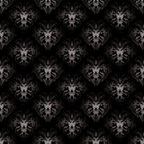 Floral gothic black Royalty Free Stock Images