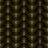 Floral gothic black and black Royalty Free Stock Image