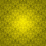 Floral gothic bright gold Stock Photography