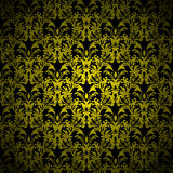 Floral gothic gold Stock Photo
