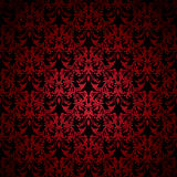 Floral gothic red Stock Image