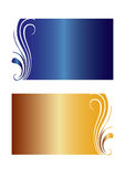 Floral gradient banners vector Royalty Free Stock Image