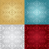 Floral Gradient classic pattern set Royalty Free Stock Images